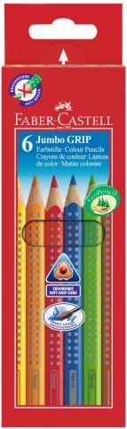 Цветные карандаши JUMBO GRIP, набор цветов, в картонной коробке, 6 шт.