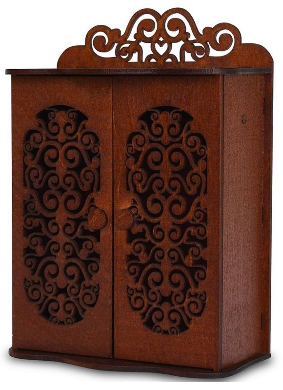 ЯиГрушка Мебель для кукол Шкаф для спальниПлатяной шкаф - незаменимый предмет мебели - сохранит порядок в гардеробе куколки-модницы!Во вместительном и удобном шкафу хозяйка дома будет хранить все свои наряды и аксессуары.В двухстворчатом шкафу имеется отделение с 4 полочками, а также место, куда куколка сможет повесить свои любимые платья на вешалки.Шкаф, выполненный в утонченном стиле и украшенный изысканной резьбой, идеально впишется в общий интерьер спальни.<br>