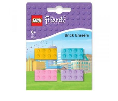 Набор ластиков (4 шт.) LEGO Friends (Подружки) (51608)Набор ластиков LEGO Friends состоит из четырех изделий. Выполненные в виде элементов конструктора, они могут послужить как для дела на уроках рисования и черчения в школе, так и для забавного розыгрыша. Качественные и красивые, они сделаны в приятных пастельных тонах. Ластики прослужат долго и пригодятся не только ребенку, но и его родителям.Качество и удобная доставкаМагазин Hamleys славится своей заботой о клиентах. Широкий ассортимент товаров, удобные способы оплаты и доставки, система отзывов служат для того, чтобы покупка товаров была максимально эффективной и полезной.Цены на изделия, представленные в магазине Hamleys, приятно удивят покупателей. Набор ластиков Лего Френдс жителям Санкт-Петербурга, Москвы и области доставит курьер с возможностью безналичной или наличной оплаты, а для всех остальных регионов страны действует система наложенных  платежей.<br>
