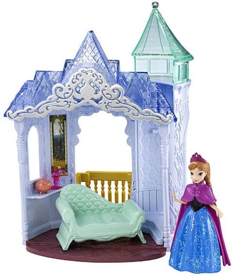 Кукла Анна с замком и аксессуарами, из м/ф Холодное сердцеDisney Princess представляет вашему вниманию куклу Анну.Анна - главная героиня мультфильма производства Disney Холодное сердце.Классическая кукла из коллекции принцессы Disney.Особенности:У куклы двигаются руки, ноги, голова.В комплекте: кукла, замок,аксессуары.<br>