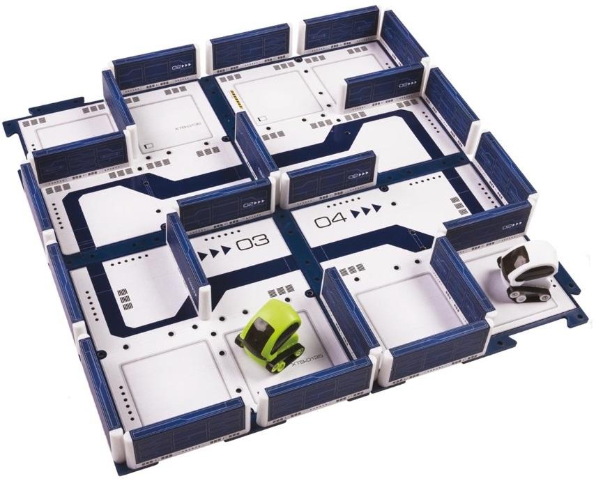 Площадка для микро-роботов Desk Pets МэйзботMazebot — игровая площадка-конструктор для запуска Микро-роботов станет отличным подарком. Для обладателей игрушек Tankbot и Carbot не является секретом, что их роботы способны самостоятельно, без участия человека, находить выход из лабиринта, щепетильно огибая препятствия, поэтому эта площадка будет идеальным местом обитания умных роботов.Набор имеет в своем составе четыре горизонтальных площадки и двадцать две перегородки с нанесенными футуристичными узорами. Все стенки могут свободно меняться и перемещаться, поэтому можно создать замкнутый лабиринт для самостоятельного перемещения машинок, трассу со стартом и финишем, где два робота могут соревноваться на скорость, и большую арену, где два или три Carbot'a будут участвовать в боях на выживание.Разборная конструкция не только позволяет создавать большое количество трасс, но и обеспечивает компактное хранение и транспортировку, поэтому в вашей комнате всегда будет порядок. Mazebot — игровая площадка-конструктор для запуска Микро-роботов станет отличным подарком. Для обладателей игрушек Tankbot и Carbot не является секретом, что их роботы способны самостоятельно, без участия человека, находить выход из лабиринта, щепетильно огибая препятствия, поэтому эта площадка будет идеальным местом обитания умных роботов.<br>