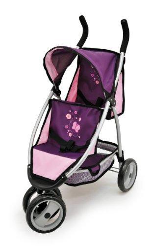 Коляска-джоггер для кукол, фиолетоваяМодная, стильная кукольная коляска не оставит равнодушной ни одну маленькую принцессу;надежность и высокое качество;.<br>