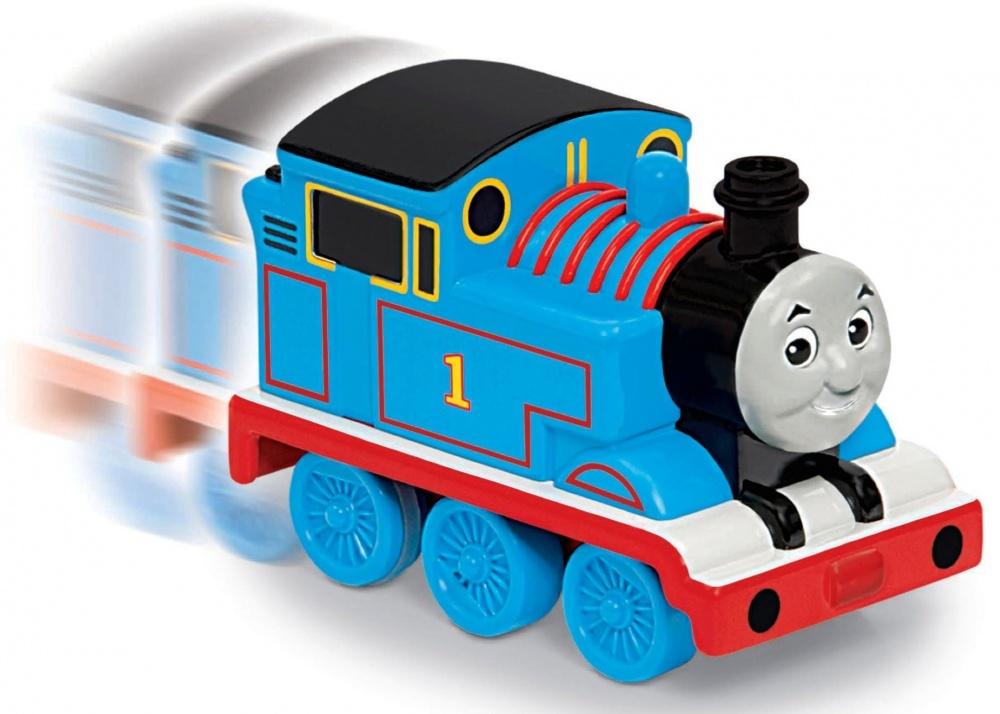 Паровозик Thomas&amp;Friends Транспортные средства. ТомасПаровозик «Потяни и отпусти» из серии «Томас и друзья» обязательно понравится Вашему малыш. Транспортные средства очень просты в использовании и идеально подходят для маленьких ручек. Отведи их назад и увидишь, как они поедут вперед.<br>