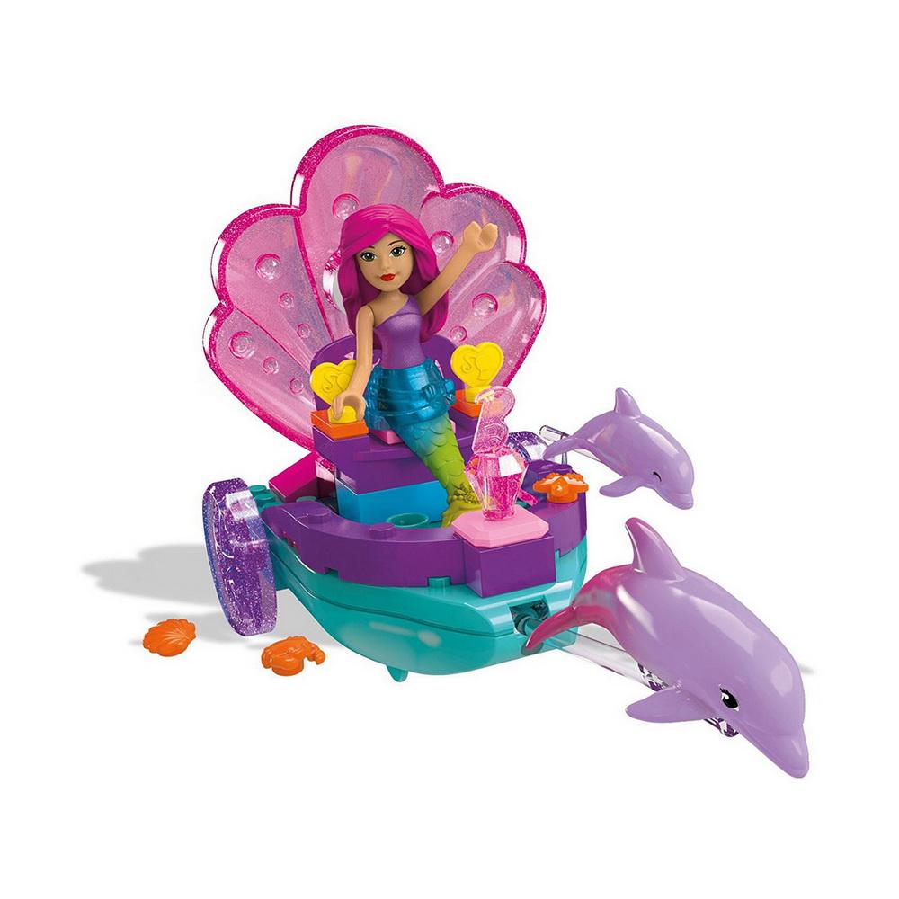 Барби сказочные игровые наборыКонструктор Барби: Русалочка от компании Mega Bloks позволит девочке окунуться в подводный мир волшебства. Прекрасная русалка плывет в своей карете в окружении дельфинов. Яркие и красочные элементы конструктора привлекут внимание ребенка. Сборка деталей развивает усидчивость, внимание, аккуратность, а получившейся моделью можно играть как полноценной игрушкой.<br>