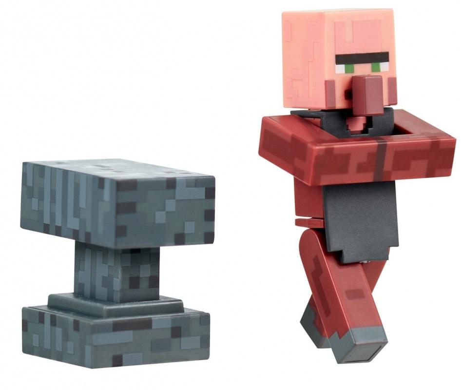 Фигурка Jazwares Minecraft Blacksmith Villager 3 мягкая игрушка minecraft летучая мышь bat 16536 jazwares