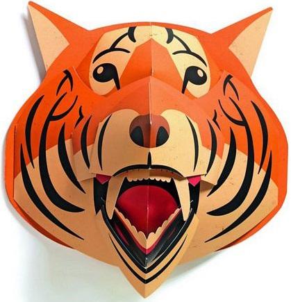 Объемная фигура Djeco ТигрОбъемная фигура Тигр - оригинальное настенное украшение для детской комнаты. Ваш ребенок будет в восторге, у него в комнате появится красивая декоративная деталь в виде головы тигра, к тому же он сможет выбрать самое лучшее место для него.<br>