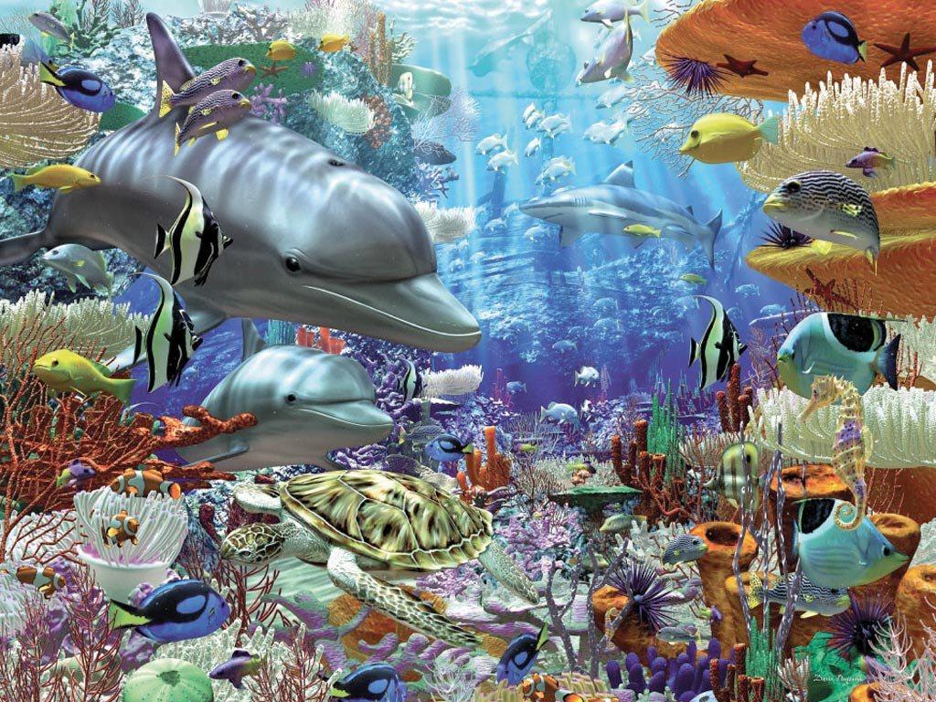 Пазл «Дельфины» 3000 штПазл «Дельфины» отличает обилие ярких красок и множество деталей, связанных с изображенными на картинке различными морскими обитателями и многообразием видов растений подводного рифа. Пазл на 3000 элементов подойдет для сборки детям от 14 лет. Такая непростая задача будет стимулировать внимание, цветовое восприятие и образное мышление.Все детали выполнены из качественного спрессованного картона и обладают красочным полиграфическим рисунком. Края элементов пазла гладкие и идеально соединяются друг с другом. При этом получается ровный рисунок без искажений линий и пропорций. Крепкий картон не расклеится и не сломается после нескольких сборок.<br>