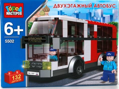 Конструктор Город Мастеров Двухэтажный автобус детский конструктор