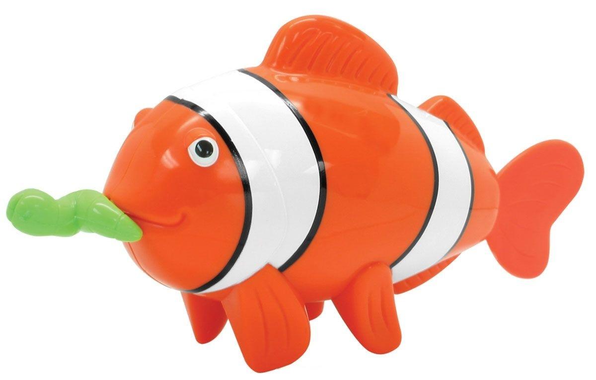 Купить со скидкой Заводная рыба-клоун для ванной