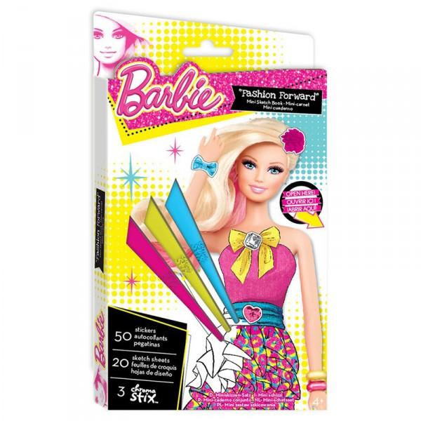 Мини-портфолио Fashion Angels Барби с восковыми мелкамиС таким набором юная модница может придумать и воплотить в жизнь все свои дизайнерские идеи в стиле Barbie. В комплекте есть специальные шаблоны, которые можно раскрашивать восковыми мелками и украшать наклейками, которые также прилагаются. Благодаря тому, что набор очень компактный, его можно брать с собой в дорогу или на отдых. Пришло время создавать свои модные образы!В наборе:50 наклеек, 20 шаблонов, 3 восковых мелка.<br>