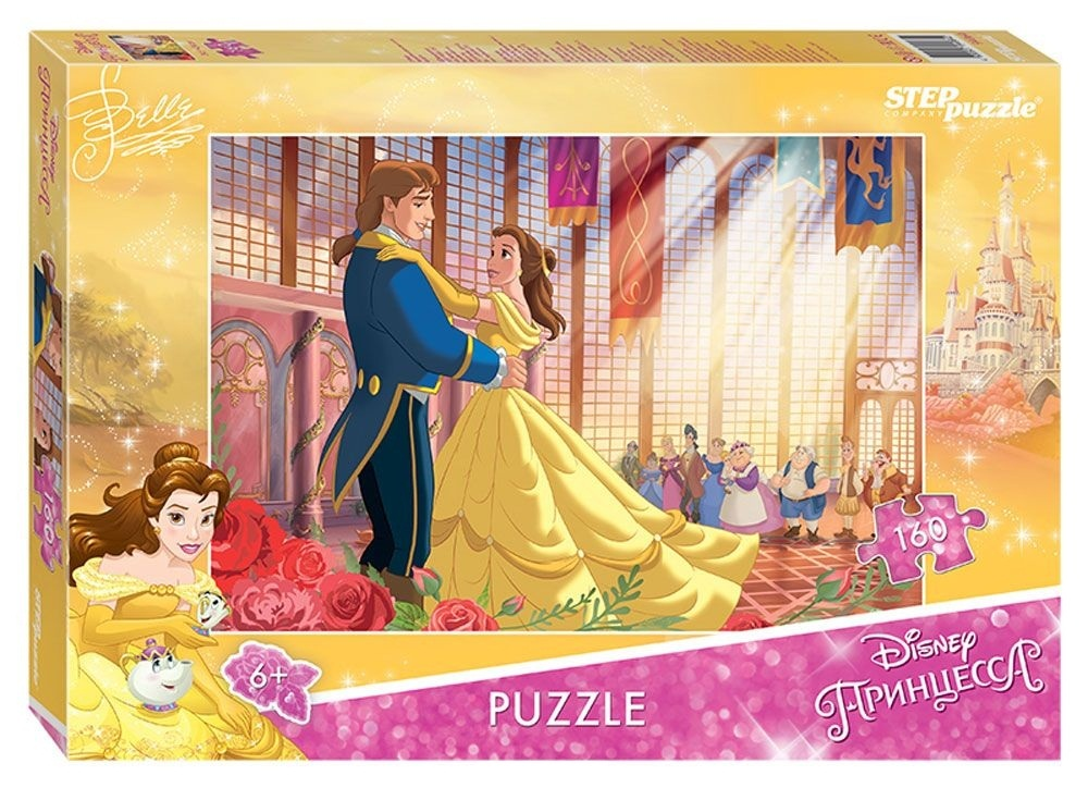 Мозаика puzzle 160 Красавица и Чудовище - 2 (Disney)Пазл Step Puzzle Красавица и Чудовище-2 создан по мотивам мультфильма Красавица и Чудовище (Disney). История рассказывает о красавице Белль, которая отправляется на поиски отца и попадает в замок Чудовища. В замке она встретит верных друзей и найдет свою любовь.Собирание пазла развивает у ребенка мелкую моторику рук, тренирует наблюдательность, логическое мышление, знакомит с окружающим миром, с цветом и разнообразными формами, учит усидчивости и терпению, аккуратности и вниманию.Компания Step Puzzle гарантирует высокое качество пазла и точность подгонки.<br>