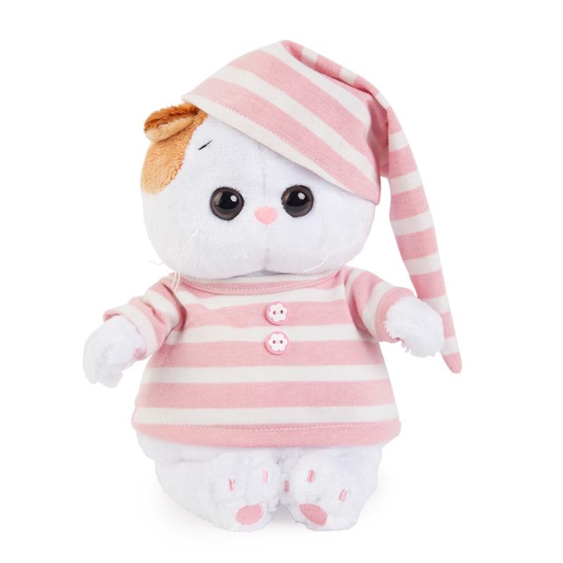 Ли-Ли BABY в полосатой пижамкеМаленькая кошечка в розовой пижамке и колпачке. На ушке у Ли-Ли маленький бантик из переливающейся органзы.Состав: мех искусственный, элементы из пластмассы, текстильных материалов и металла. Набивка из полимерного волокна и полиэтиленовых гранул.Упакована в подарочную коробку<br>