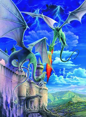 Пазл Огнедышащий дракон XXL 300 штРазмер картинки  49*36 см Размер упаковки  34*23*4 см<br>