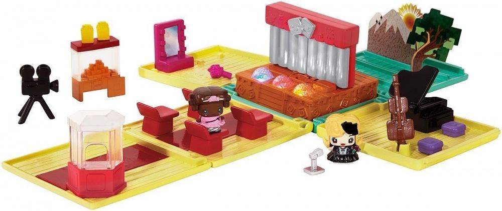 MY MINI MIXIQES Набор игровой Музыкальная студия с фигуркамиИгровой набор от компании Mattel подходит для сюжетно-ролевых игр. Его детали изготовлены из качественного пластика. Хотя в разобранном виде игрушка занимает достаточно большую площадь, ее можно собрать в компактный куб, что очень удобно при транспортировке. Игрушка предлагает максимально продуманный и полный набор аксессуаров для определенной игровой ситуации.<br>