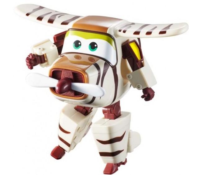 Трансформер Супер крылья - БэллоТрансформер Бэлло представляет собой игрушечного героя известного мультсериала Супер крылья про захватывающие приключения Джетта и его друзей. Игрушка копирует внешний вид мультяшного спасателя, чем порадует поклонника этой интересной истории. Легкий процесс трансформирования позволит ребенку превратить Бэлло из вертолета в отважного робота и наоборот: это сделает игру интереснее и динамичнее.Трансформер Бэлло из серии Супер крылья станет замечательным подарком ребенку и сможет отлично пополнить его коллекцию мультипликационных героев.Возраст: от 3 летДля мальчиков и девочекМатериалы: пластик.Размер игрушки: 11.5 x 13 x 8 см.<br>