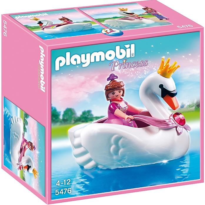 Игровой набор Замок кристалла - Принцесса на лодке-лебедеИгровой набор Замок кристалла: Принцесса на лодке-лебеде будет замечательным дополнением к серии игрушек Плэймобиль. Прекрасная принцесса решила уединиться и насладиться природой, прокатившись на необычной лодочке в виде лебедя с золотой короной. Она переодела свою пышное платье на более удобный наряд. Управлять лодкой можно, держась за специальные ручки на шее лебедя. Голова и руки принцессы подвижные. Благодаря пышной съемному платью, фигурка может менять свой образ, поэтому играть будет гораздо интереснее.<br>