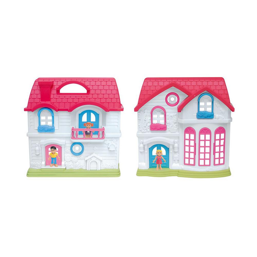 Домик Солнечный городок, ул.Цветочная, дом 2 с парадным залом (40*26см)Уютный домик для маленьких кукол EstaBella Солнечный городок улица Цветочная дом 2 привлечет внимание вашей малышки и не позволит ей скучать. Комплект включает в себя пластиковый двухэтажный домик, мебель и аксессуары для дома, а также фигурки людей. Прекрасный дом состоит из двух этажей. Он имеет множество окошек и 2 входные двери. Такой набор несомненно придется по душе вашему ребенку. Порадуйте свою принцессу таким замечательным подарком!<br>