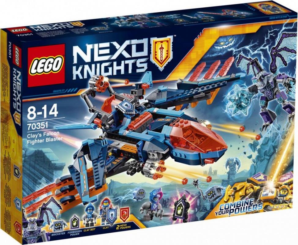 "все цены на  Конструктор Lego Nexo Knights 70351 Самолёт-истребитель Сокол Клэя""""  онлайн"