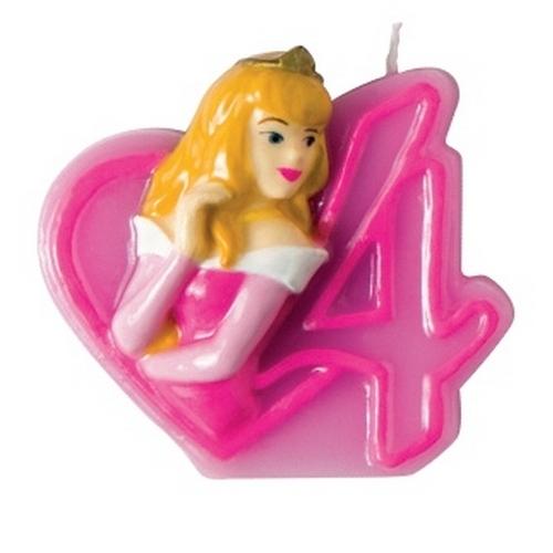 Объемная свечка Принцессы - 4 годаПраздничный торт для девочки украсит свечка «Принцессы Диснея» с большой цифрой 4 и вписанной в нее фигуркой героини мультфильма. Свечка смотрится очень аккуратно и изящно, так что отлично дополнит украшения к тематическому дню рождения, а поклонница диснеевских мультиков без проблем узнает на ней своего любимого персонажа. Подарите своей дочке незабываемый день рождения в окружении диснеевских принцесс!Возраст: от 4 летГерой: Принцессы ДиснеяДля девочекРазмер упаковки: 13.7 х 9.7 х 2.2 см.<br>