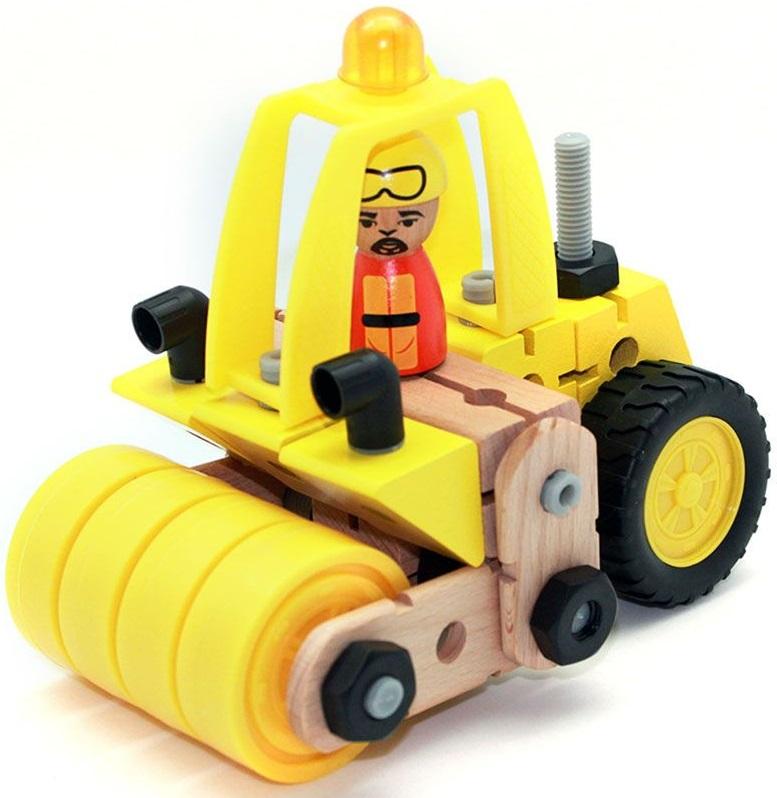 Конструктор деревянный Roys FWC-165 Каток тракторныйДеревянный конструктор ROYS FWC-165 изготовлен из высококачественной древесины. Из данного набора можно собрать Каток с движущимся элементами. Все деревянные детали обработаны, не имеют скол, заноз и трещин. Окарашены детали натуральными маслами, поэтому они безопасны для детей. Детали конструктора легко и быстро соединяются друг с другом. Также в наборе есть дополнительные пластиковые детали, такие как колеса, каток и др. Деревянные конструкторы ROYS совместимы между собой. Можно собиратьт новые оригинальные машины и строения. Набор предназначен для детей от 3 лет.<br>