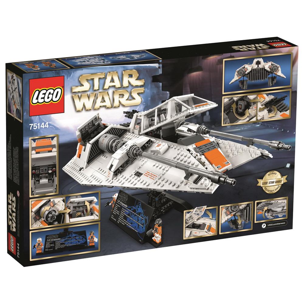 Конструктор Lego Star Wars Снежный спидер™Конструктор позволяет воссоздать космический корабль, который завораживает своей мощью. Маленькие поклонники саги «Звездные войны» будут в восторге от Снежного спидера, который словно сошел с экрана телевизора. В корабле имеются подвижные элементы (пушки, люки), которые придают игрушке реалистичность. В кабину пилота можно усадить маленьких человечков. Их в наборе два. Конструктор ЛЕГО Star Wars TM Снежный спидер оказывает всестороннее воздействие на ребенка. Он развивает внимание и усидчивость, ведь, собирая игрушку, нужно быть предельно сконцентрированным и не упустить ни одной детали. Развивается мелкая моторика, воображение.<br>