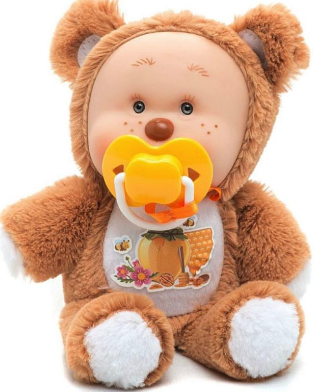 Игрушка мягконабивная Yogurtinis Медвежонок МишаИгрушка мягконабивная Медвежонок Миша Yogurtinis - вкусно пахнущая игрушка, замечательный подарок для малыша. Упаковка игрушки стилизована под банку варенья. Игрушка выполнена из качественных материалов, приятных на ощупь. В комплекте с медвежонком идет соска.<br>