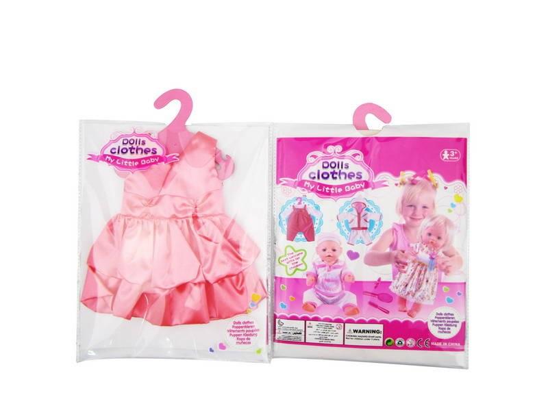 Junfa Toys Одежда для кукол. Платье атласное, цвет коралловыйJunfa Toys Платье атласное - это очень удобная одежда для кукол. Некоторые модницы балуют новыми нарядами не только себя, но также и своих любимых кукол. Платье для куклы My Little Baby подходит для игрушки средних размеров. У него красиво смоделированный лиф из блестящей атласной ткани кораллового цвета, без рукавов и юбка с воланами. Нарядное платье поможет стать кукле еще более прекрасной и стильной. Оно станет достойным пополнением в ее гардеробе.Такая одежда подойдет для кукол высотой 46 см (18 дюймов).Одежда для куклы станет превосходным подарком для девочки и поможет ей развить чувство стиля и аккуратность, а также разнообразит игры с куклами.<br>