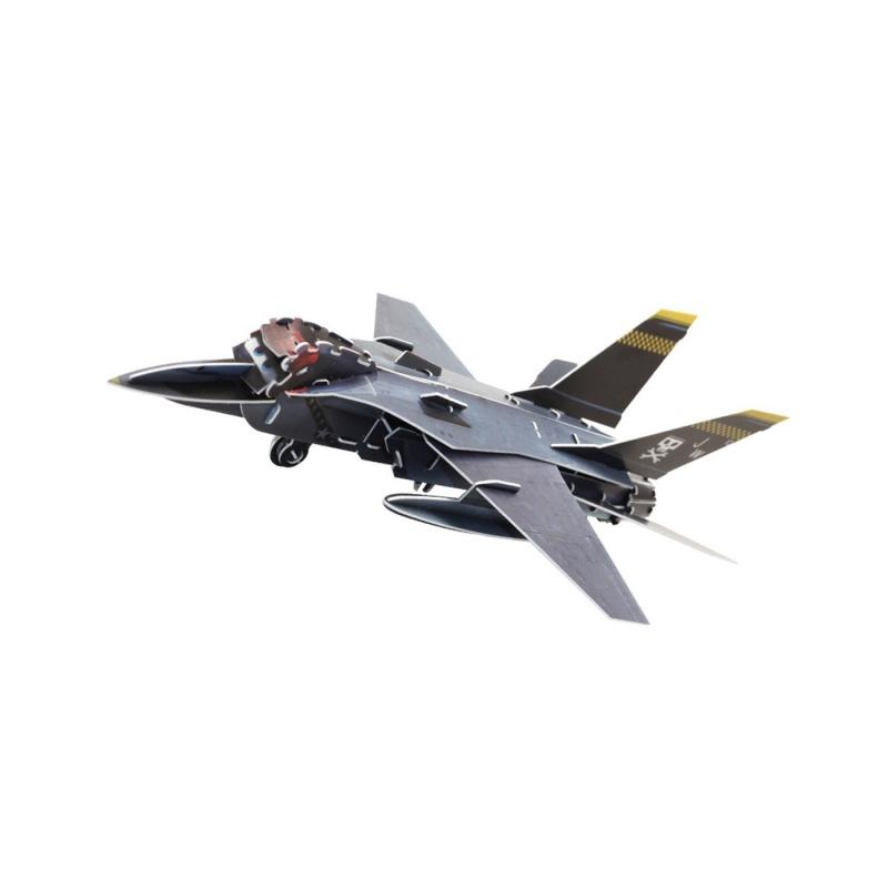 3D-пазл с моторчиком Самолеты - Эхо 70 элементовИз 70 разных элементов данного пазла можно собрать небольшую модель самолета, которая сможет принять активное участие в детских играх. Во время сборки в игрушку устанавливается маленький моторчик, который превращает обычный объемный пазл в инерционную игрушку. С самолетиком темно-серого цвета мальчики смогут проводить воображаемые военные операции.<br>