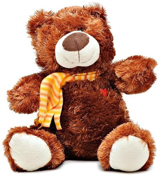 Интерактивная мягкая игрушка Kribly Boo Шоколадный Мишка, 28 см. 4 сказки kribly boo мягкая игрушка песик спорт 4 сказки