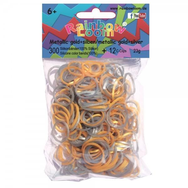 Резиночки - Металлик-Серебро ЗолотоРезиночки для плетения браслетов<br>