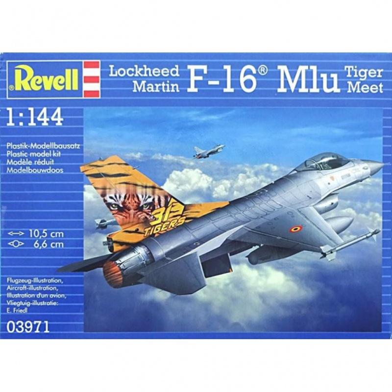 Сборная модель Revell Самолет F-16 Mlu TigerMeetСборная модель Revell Истребитель предлагает вам и вашему ребенкуувлекательное занятие на долгое время. Набор включает в себя элементы,из которых можно собрать достоверную уменьшенную копию одноименногосамолета. Также в наборе схематичная инструкция по сборке. Процесссборки развивает интеллектуальные и инструментальные способности,воображение и конструктивное мышление, а также помогает получитьпрактические навыки работы со схемами и чертежами.<br>