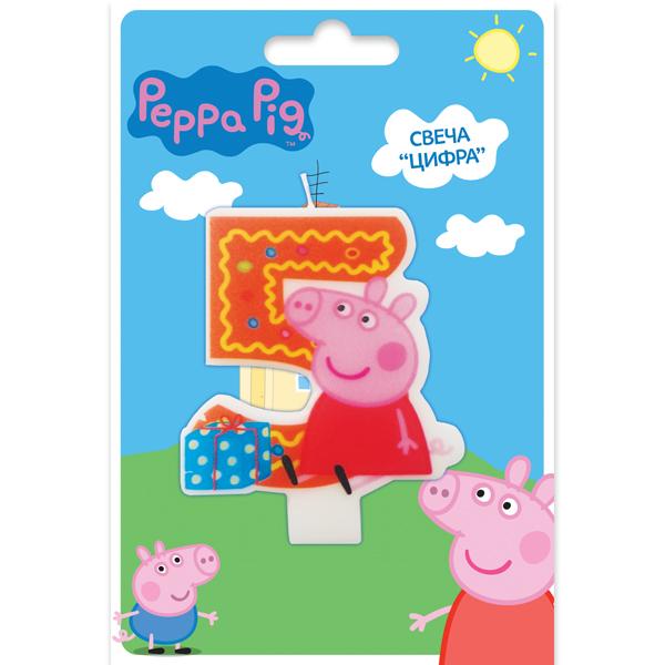 Фигурная свеча Peppa Pig - 5 лет коврик для йоги с рисунком atemi aym 01 pic