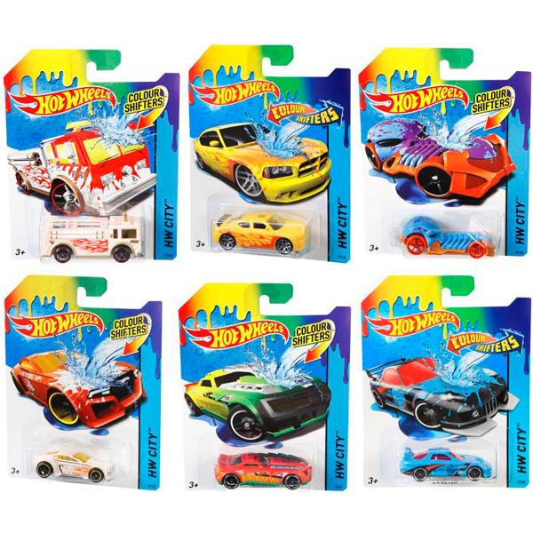 Машинки COLOR SHIFTERS в ассорт. hot wheels машинки меняющие цвет color shifters fire eater