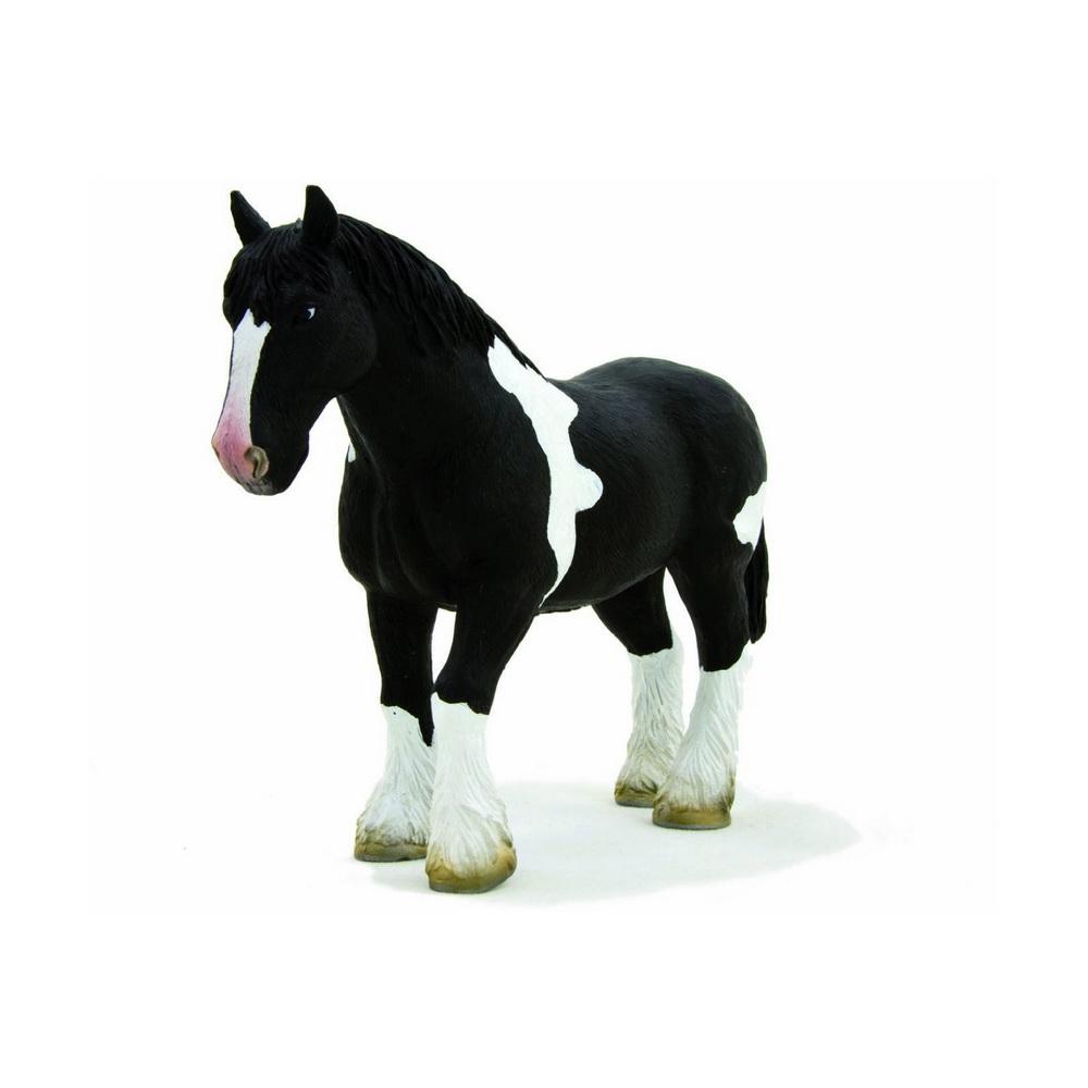387085 (Animal Planet)-Лошадь чёрно-белая клейдесдальской породы (XL)Фигурка лошади породы Шотландский тяжеловоз - это точная копия настоящего животного. Фигурка изготовлена с тщательной детализацией и раскрашена вручную, что придает ей исключительную реалистичность. Лошади-тяжеловозы Клейдесдаль отличаются от других тяжеловозов аристократической внешностью. Остальные мощные породы являются крупными животными с достаточно грубой внешностью, а Клейдесдали обладают изящными чертами и используются не только для перевозки грузов, но и участвуют в парадах. Фигурка станет чудесным дополнением домашней коллекции животных и пригодится для сюжетных игр.<br>