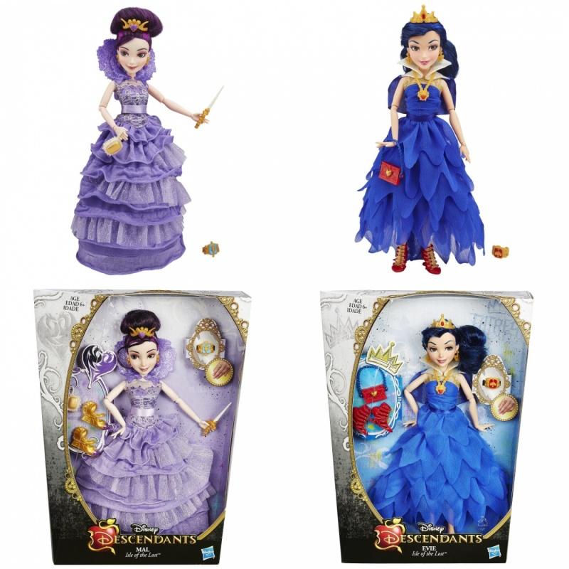 Кукла Descendants Коронация в ассортиментеКукла «Коронация» – замечательный подарок для любой девочки. Она подарит массу позитивных эмоций и станет любимой игрушкой. Изделие выполнено в стиле принцесс мультипликационных фильмов компании Дисней.Играем и фантазируемРучки и ножки куклы сгибаются. Благодаря этому, игра становится увлекательной и интересной. Игрушка одета в роскошное платье. Складки, рюши, ленты – все это придает изделию особую «изюминку». В комплекте идут украшения и аксессуары: браслеты, сумочки, волшебные палочки. Куклу можно заказать через интернет-магазин Hamleys с доставкой в любой уголок России.<br>