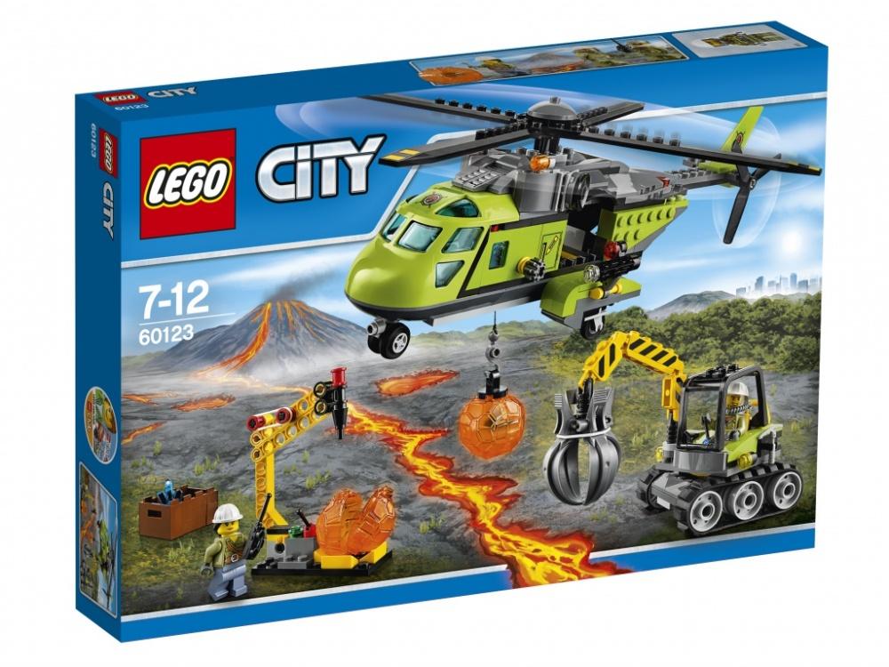 Конструктор Lego City 60123 Грузовой вертолет исследователей вулканов