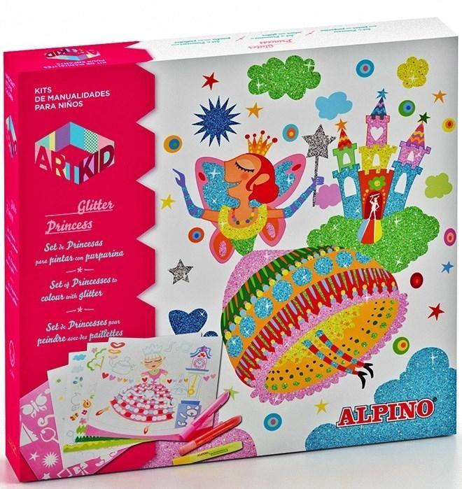 Набор для детского творчества Наряды принцессы alpino 12 цветов alpino альпино