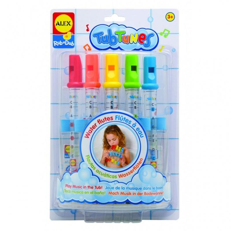 Игрушка для ванной Водяные флейтыВремя музыки! Набор флейт для ванной поможет малышу разобраться с миром звуков прямо в ванной. Для изменения тональности звука нужно изменить уровень воды в трубочке. Дудеть можно и не в ванной. Для детей с 3 лет<br>