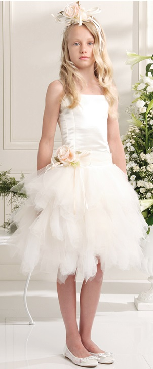Платье Les Gamins CF503227BБелое платье на выпускной с воздушной пышной юбкой<br>