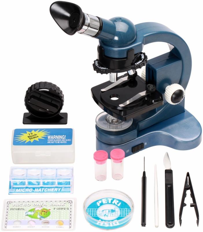 Микроскоп в чемодане 100x*1200x росмэн микромир