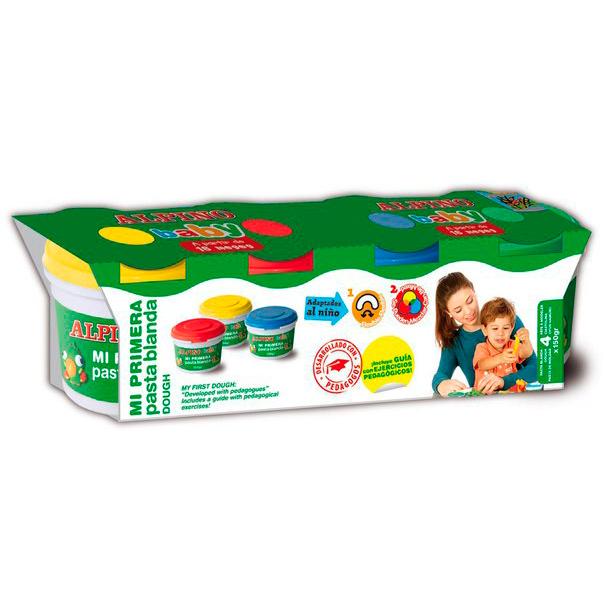 Купить Набор пасты для лепки Волшебное ТЕСТО baby , 4 x 140 гр = 560 гр, 4 цв.