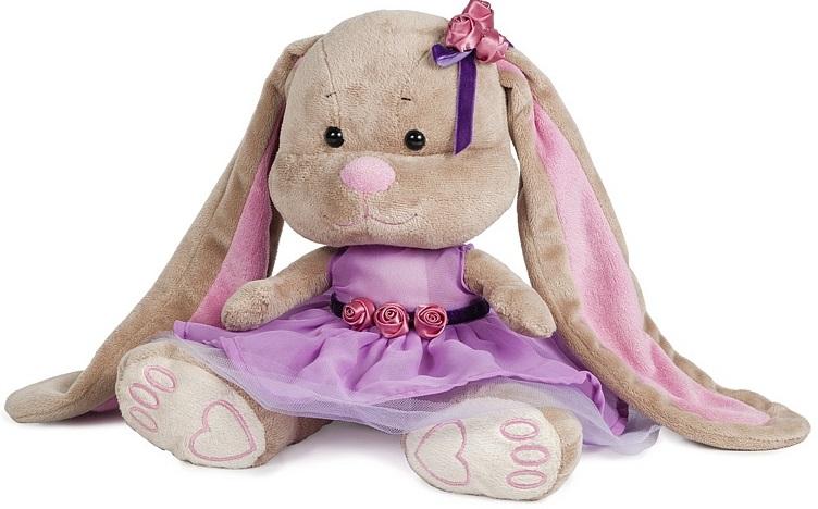 Зайка Лин Черничный Пудинг, 25 см.Мягкая игрушка Зайка Лин из коллекции ЖакЛин от торговой марки Maxitoys - это чудесная плюшевая представительница волшебной фауны, выполненная в цветовой гамме Черничный пудинг. Очаровательный зайчонок в прелестном платьице может понравиться маленькой девочке и стать для нее самой любимой игрушкой. Игрушка изготовлена из искусственного меха с наполнителем и декорирована элементами из искусственного шелка и пластика.<br>