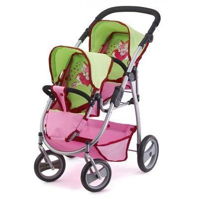 Купить со скидкой Коляска прогулочная для двойняшек, розовая