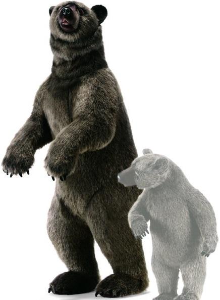 Медведица гризли Hansa с медвежонком, 80см hansa мягкая игрушка верблюд