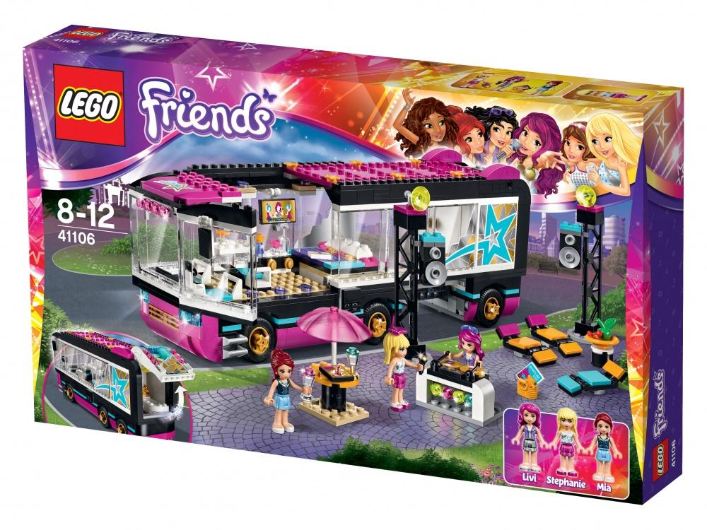 Конструктор Lego Friends 41106 Поп звезда: гастроли lego поп звезда дом ливи 41135