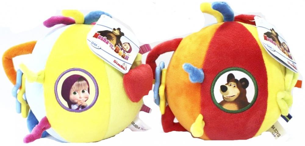 Плюшевый шар-погремушка Simba Маша и Медведь simba simba плюшевый единорог мия и я ончао 30 см