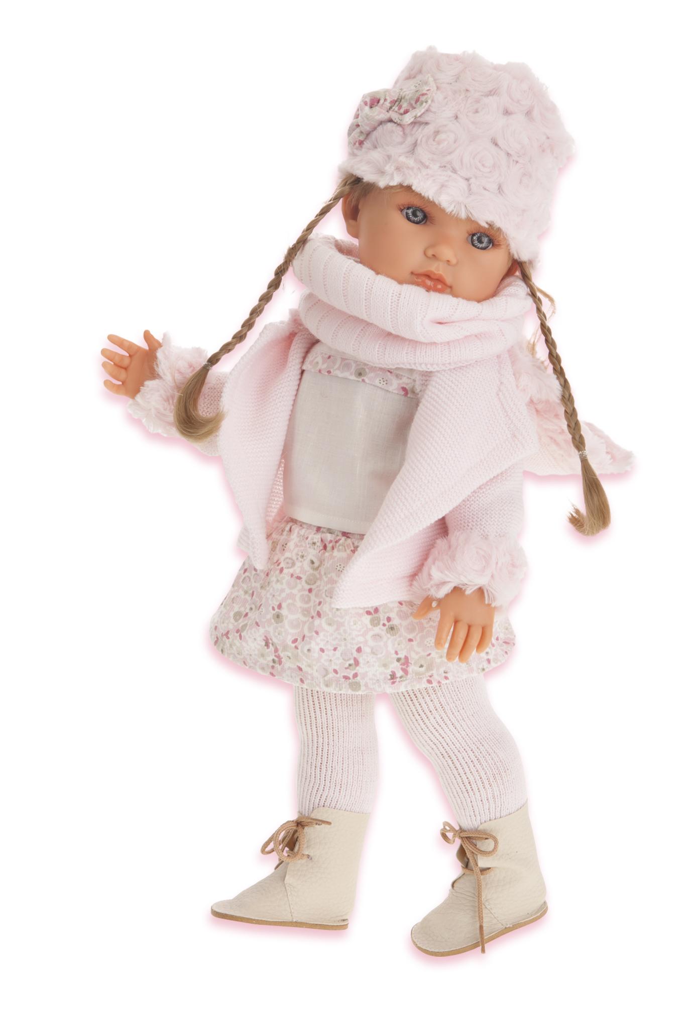 Juan Antonio Кукла Белла с шарфикомКукла Juan Antonio Белла с шарфиком - это трогательная и забавная игрушка, которая непременно очарует любую девочку. Образ куклы разработан европейскими дизайнерами с любовью и вниманием к деталям. Игрушка выполнена из прочного безопасного винила, мягкого и приятного на ощупь. Кукла натуралистична и анатомически точна. Голова, ручки и ножки малышки подвижны. Выразительные реалистичные глазки куколки обрамлены пушистыми ресницами. Кукла одета в стильный наряд. Милая куколка приведет в восторг любую девочку, а детально проработанный внешний вид и модный образ сделает такую игрушку превосходным подарком и для взрослого коллекционера. Игры с куклой научат малышку ответственности и внимательности.<br>