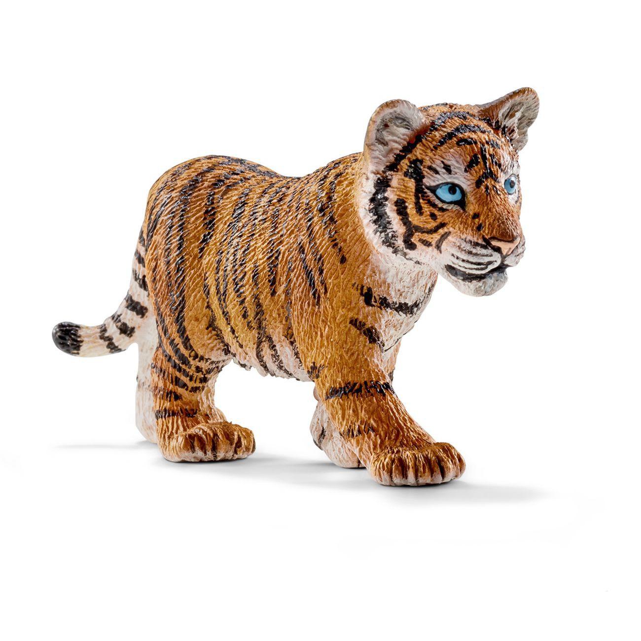 Фигурка Wild Life - Тигренок, длина 7 смИгрушечный тигренок от известного немецкого производителя Schleich поражает своей реалистичностью. Глядя на мордочку тигренка, можно заметить, что его взгляд сконцентрировался на чем-то, что привлекло к себе его внимание. Полосатая шерстка дикого котика производит приятное впечатление. Вместе с тигренком можно будет отправиться в увлекательное воображаемое африканское сафари.<br>