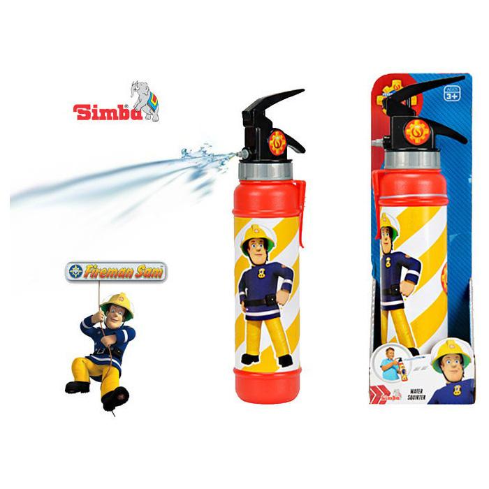 Водяное оружие Пожарный Сэм - ОгнетушительАссортимент игрушек от бренда Simba, посвященный мультсериалу Пожарный Сэм, пополнил незаменимый инструмент для борьбы с пламенем - огнетушитель. И использовать его предлагается только для веселья. Перед началом водной перестрелки необходимо заполнить емкость огнетушителя водой и плотно закрутить крышку. Благодаря легкому нажатию на клапан струя воды моментально вылетает в направлении выстрела. Яркая игрушка, украшенная красочным рисунком, позволит весело провести время и разнообразит ряд водяных пистолетов, которыми сейчас трудно кого удивить.Возраст: от 3 летДля мальчиковЦвет: красно-желтый.Материалы: пластик.Размер упаковки: 28 х 9 х 6.5 см.<br>