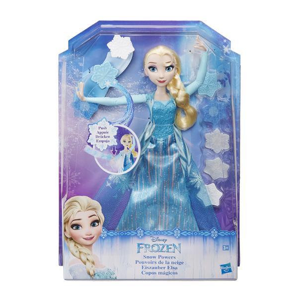 Кукла Disney Эльза запускающая снежинки рукойМодная кукла Эльза в наряде снежной королевы и в плаще, который можно снимать.В наборе - 8 снежинок. Снежинка крепится к руке Эльзы и Эльза запускает ее в воздух.Снежинками можно также украшать наряд Эльзы.<br>